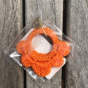 Roberta Roller Rabbit Orange Crochet Earrings